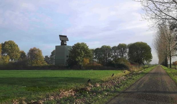 <p>Artist impression nieuw radarstation Herwijnen</p>