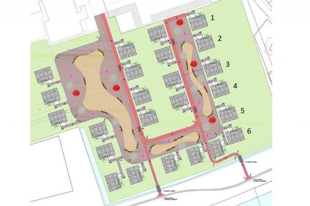 De 24 gebouwen met rechts De Sikkel.  screenshot nieuwsbrief Aeres Hogeschool