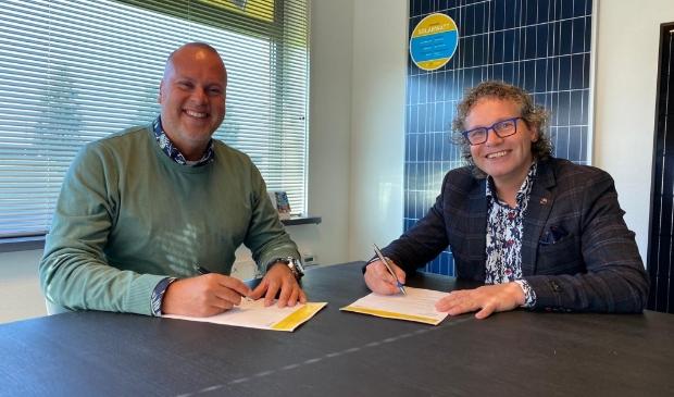 John Halsema (PV Systems) en Koos van den Akker