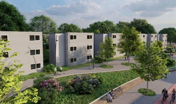 <p>Impressie van de nieuwe studentenwoningen.</p>