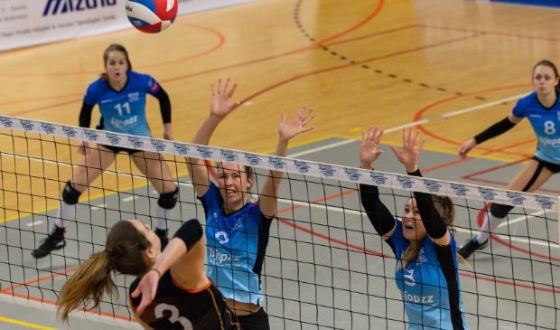 <p>Regio Zwolle Volleybal dit seizoen in actie.</p>