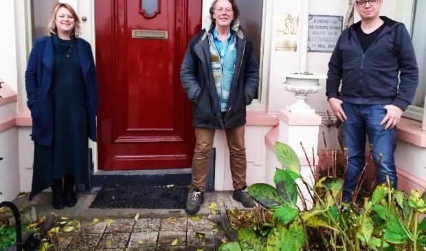Kunstenaars Heidi Pasterkamp, Bert van der Sluijs en Daan Jilesen.