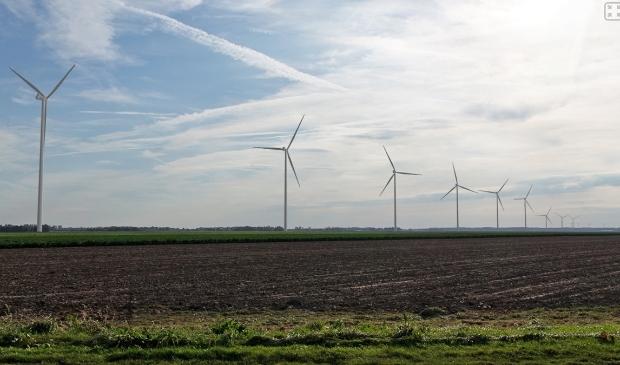 Windmolens aan de Kokkelweg.