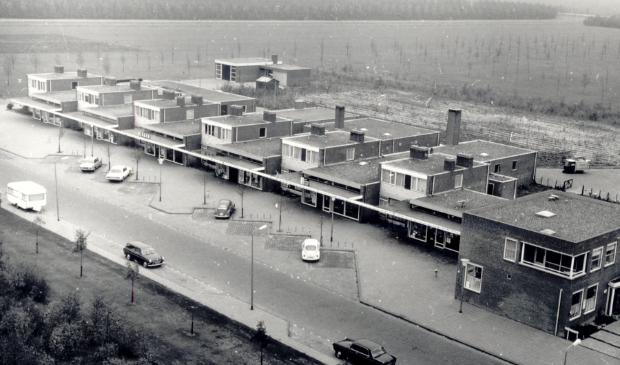 Het winkelcentrum in Biddinghuizen.