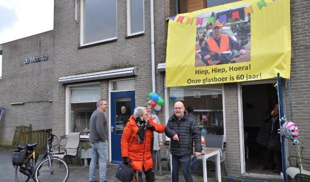 De 'lopende' verjaardag van Henk Slot.
