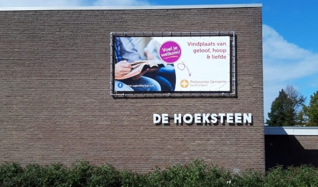 Spandoek Protestantse Gemeente Swifterbant.