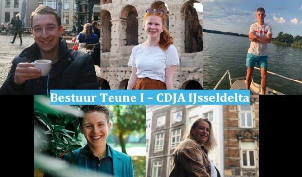 De nieuwe bestuursleden van CDJA IJsseldelta