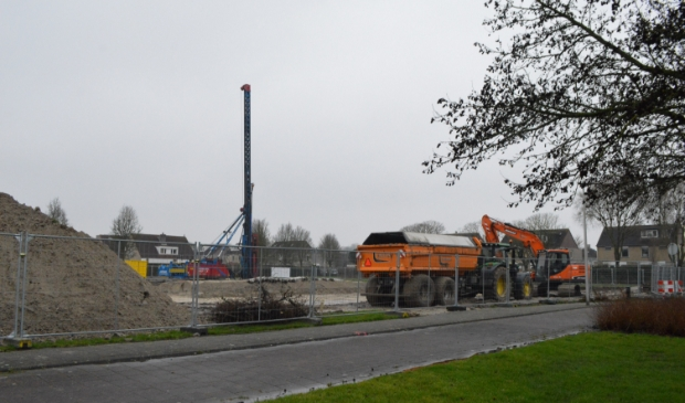 Bouwplaats aan de Vierlander in Dronten-west.