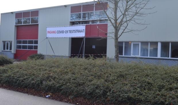 De inmiddels alweer gesloten teststraat aan de Noorderbaan in Biddinghuizen.