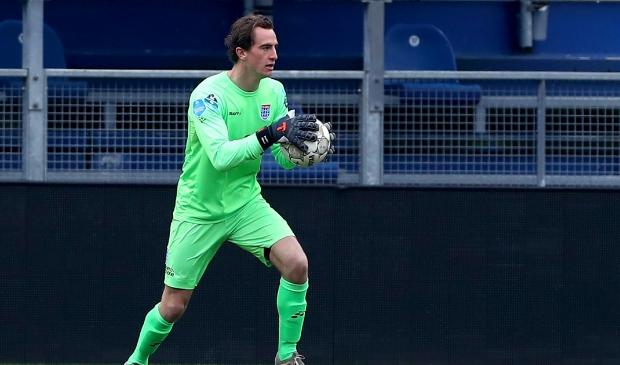 <p>PEC Zwolle-RKC Waalwijk: Xavier Mous heeft de bal.</p>