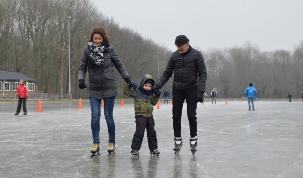 De ijsbaan in Dronten.