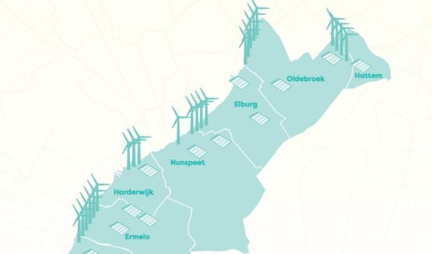 Het windmolenplan voor de Noord-Veluwe.