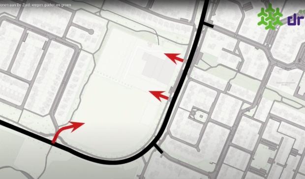 De gemeente presenteerde eerder een plan met de mogelijke wegen naar de nieuwe woonwijk.