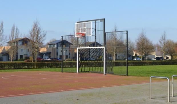 Basketbal in het Noaberpark in Biddinghuizen.