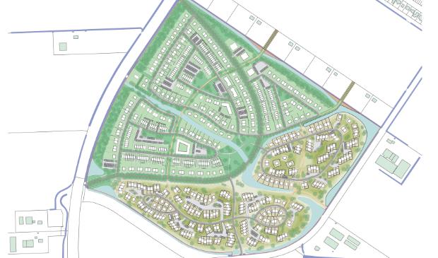 De beoogde nieuwbouwwijk Swifterbant-zuid.