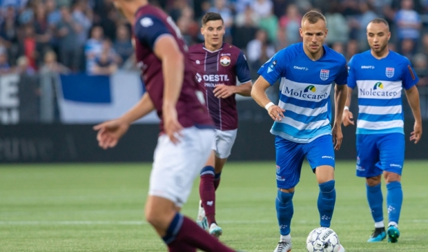 Lennart Thy was anderhalf jaar lang de spits van PEC Zwolle, maar velde zaterdag namens Sparta het vonnis over PEC.