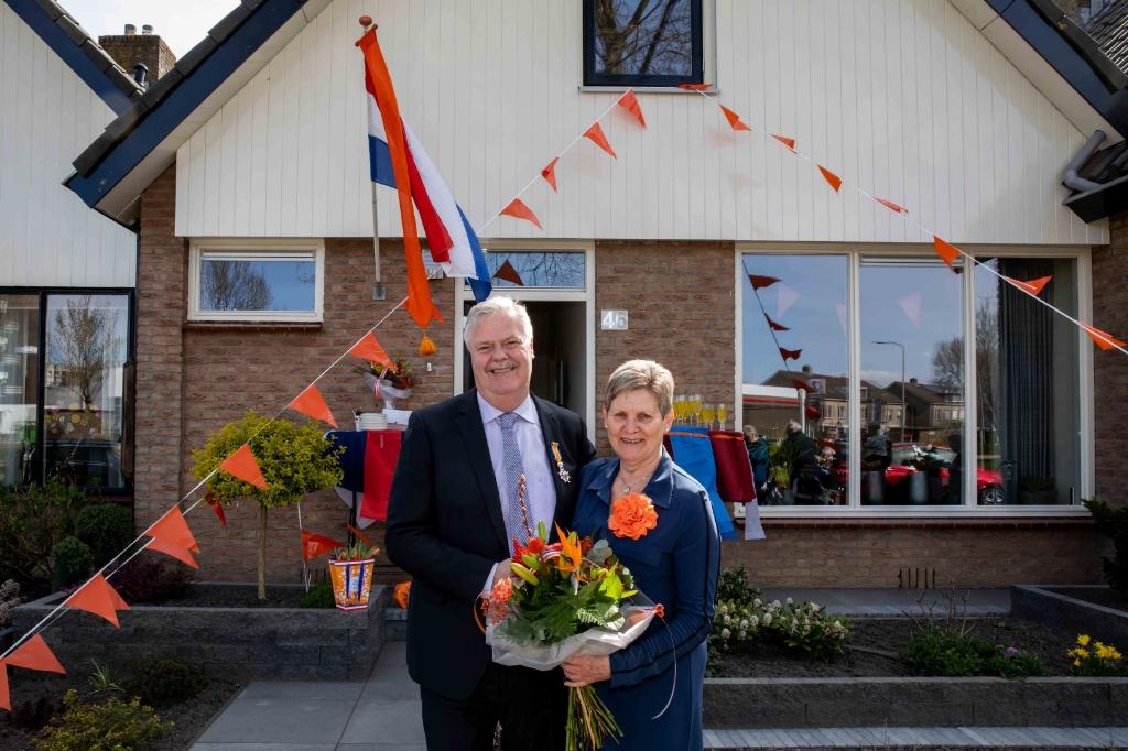 <p>Pieter Treep onderscheiden als Ridder in de orde van Oranje Nassau.</p> <p>Foto: Tennekes.</p>