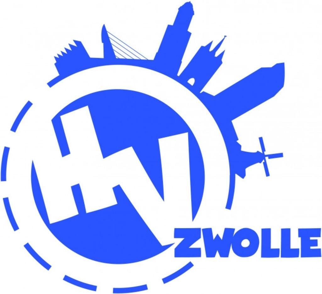 Het logo van HV Zwolle, in 2016 ontstaan uit een fusie van SV Zwolle en Tyfoon.