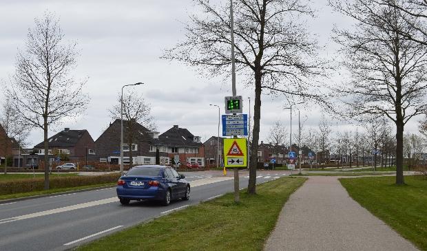 De rotonde in Dronten-west.