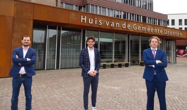 <p>Het nieuwe afdelingsbestuur van D66 in Dronten.</p>