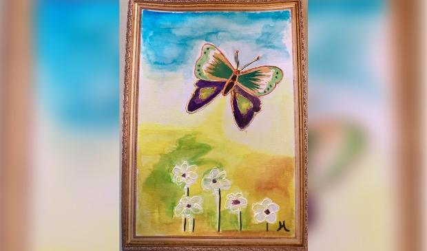 Een van de vele creatieve resultaten van Kunst door de brievenbus