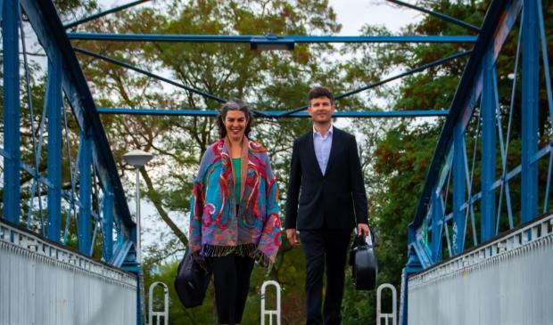 Musici Sarah Kapustin en Roeland Jagers van het Rubens Consort. Kamermuziek op internationaal niveau in #hartjezwolle!