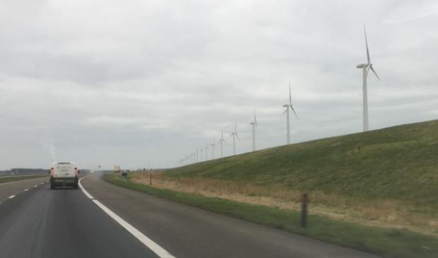 De A6 tussen de Ketelbrug en Lelystad.