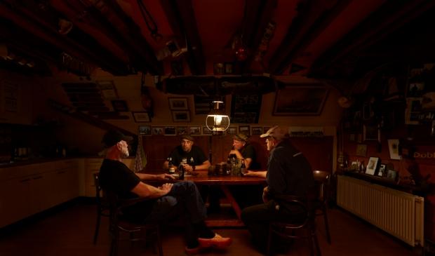 een prachtige sfeerfoto van het clubhuis van de Kamper Botterstichting.