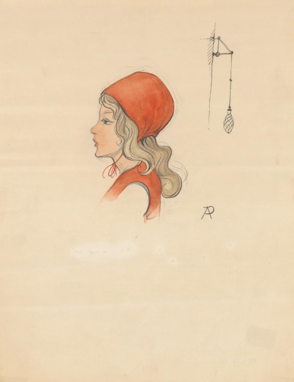 ontwerptekening voor Roodkapje ©Efteling Anton Pieck Museum © BrugMedia