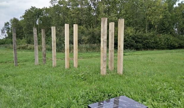 Het grafveldje in het Rivierduingebied.