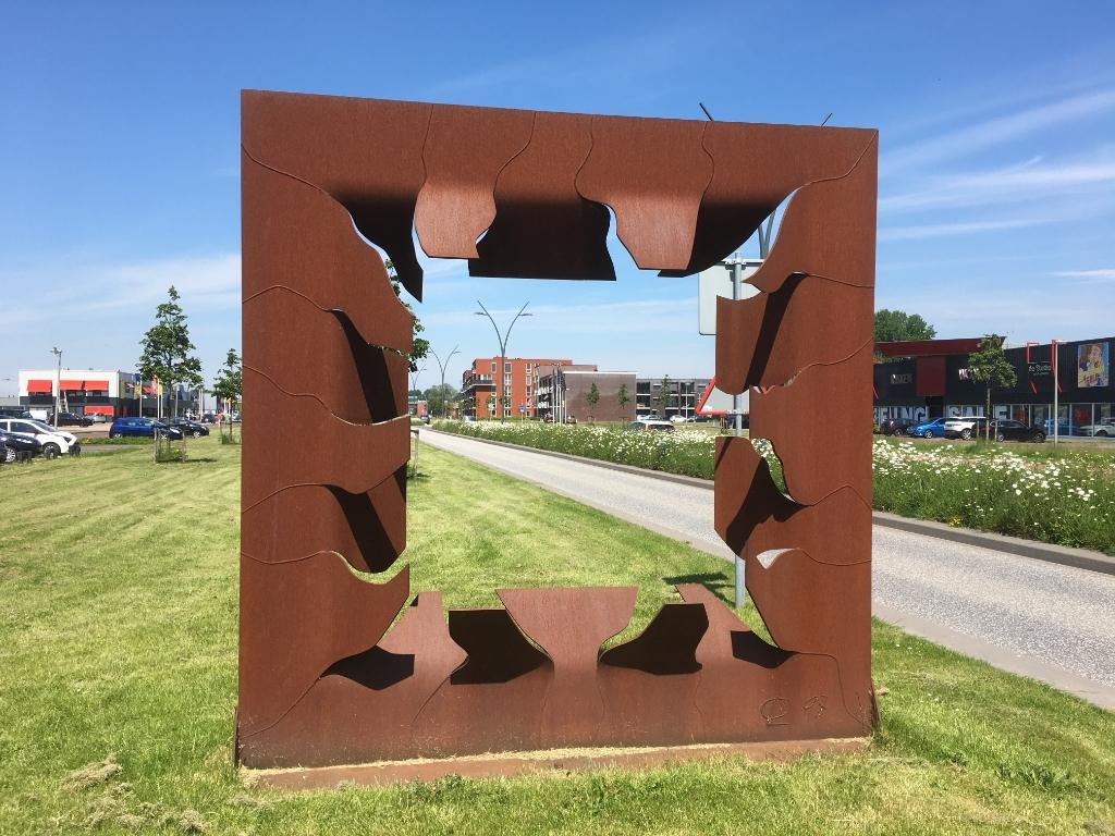 Kunstwerk van Cyril Lixenberg aan De Noord.