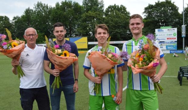 Piet Bleeker, Frank Damman, Dirk van Driest en Bob Breemhaar.