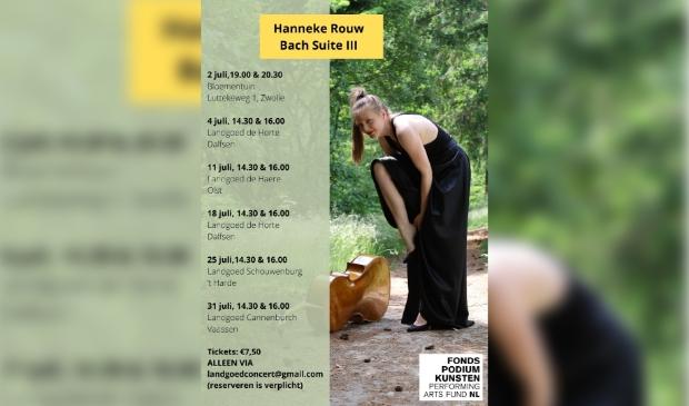 Celliste Hanneke Rouw speelt op het landgoed