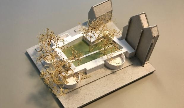 Maquette paviljoen Uitgesteld Verlangen in 2022