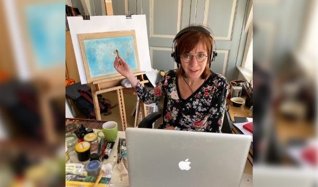Irene Goede geeft online les