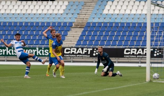 Mustafa Saymak scoorde kort voor rust de 1-0 tegen Cambuur.