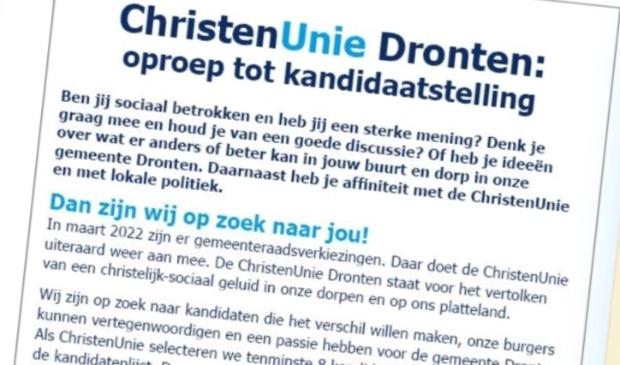 Advertentie van de ChristenUnie.