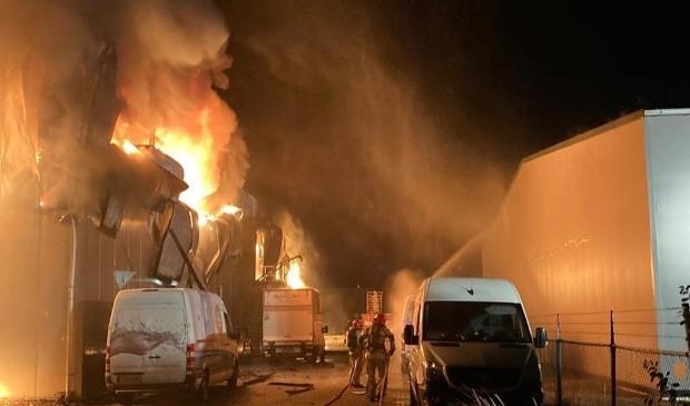 De brand van zondag aan De Hunze.