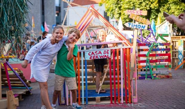 Bouwers tijdens 'Bouw je eigen Zwolle'