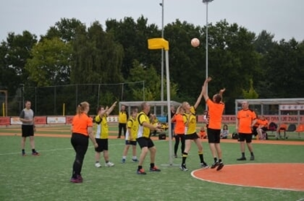 G-korfbal, Oranje Zwart-Juventa Foto: Robert Scherrer © brugmedia
