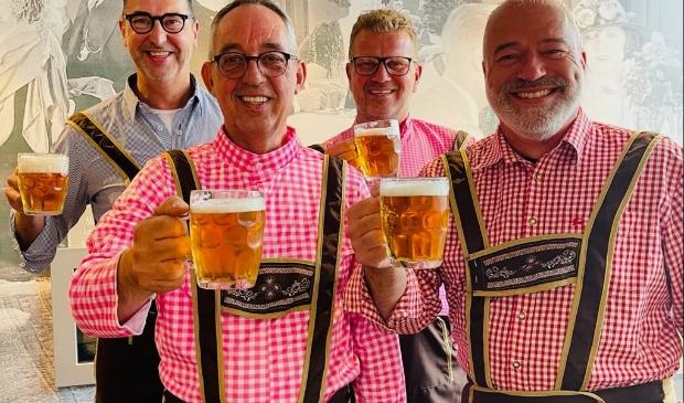 Henk Slump, Tom Dekker, Paul Hetsen en Joop Weenk zijn er klaar voor.