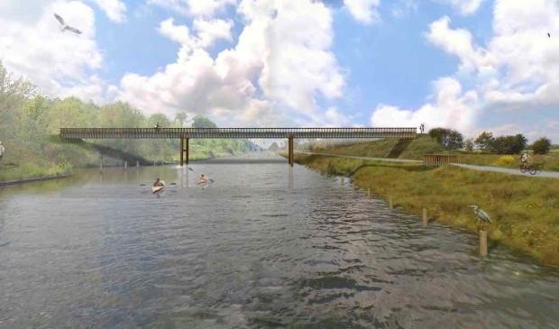 Het ontwerp van de nieuwe brug tussen het Wisentbos en het Lage Vaartbos.