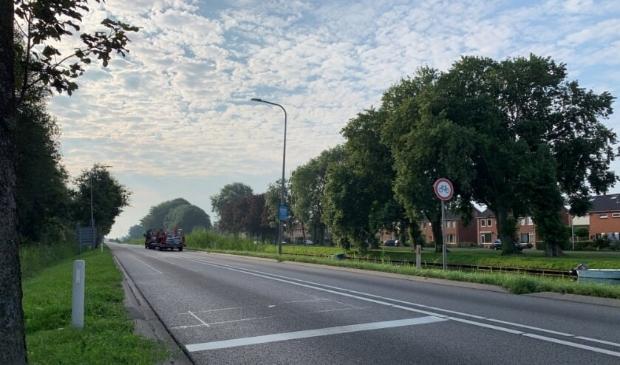Werkzaamheden aan de Vaartweg hinderen het verkeer. Archieffoto.