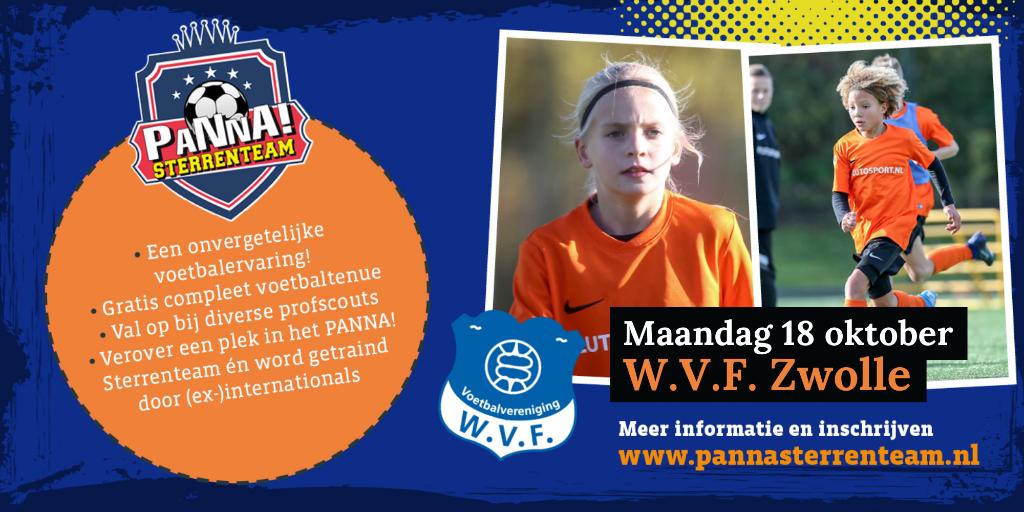 Op maandag 18 oktober is er een PANNA Sterrenteamdag bij WVF. PANNA! © brugmedia