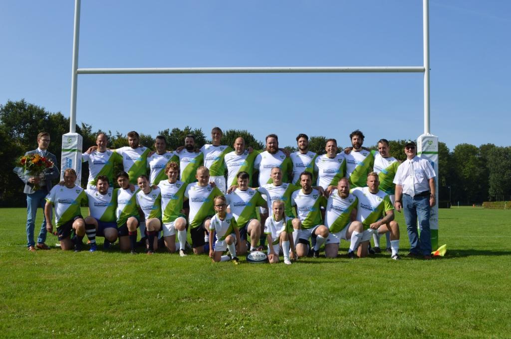 Het seniorenteam van Rugby Club Dronten.