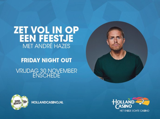 André Hazes zet in op de Friday Night Out bij Holland Casino Enschede