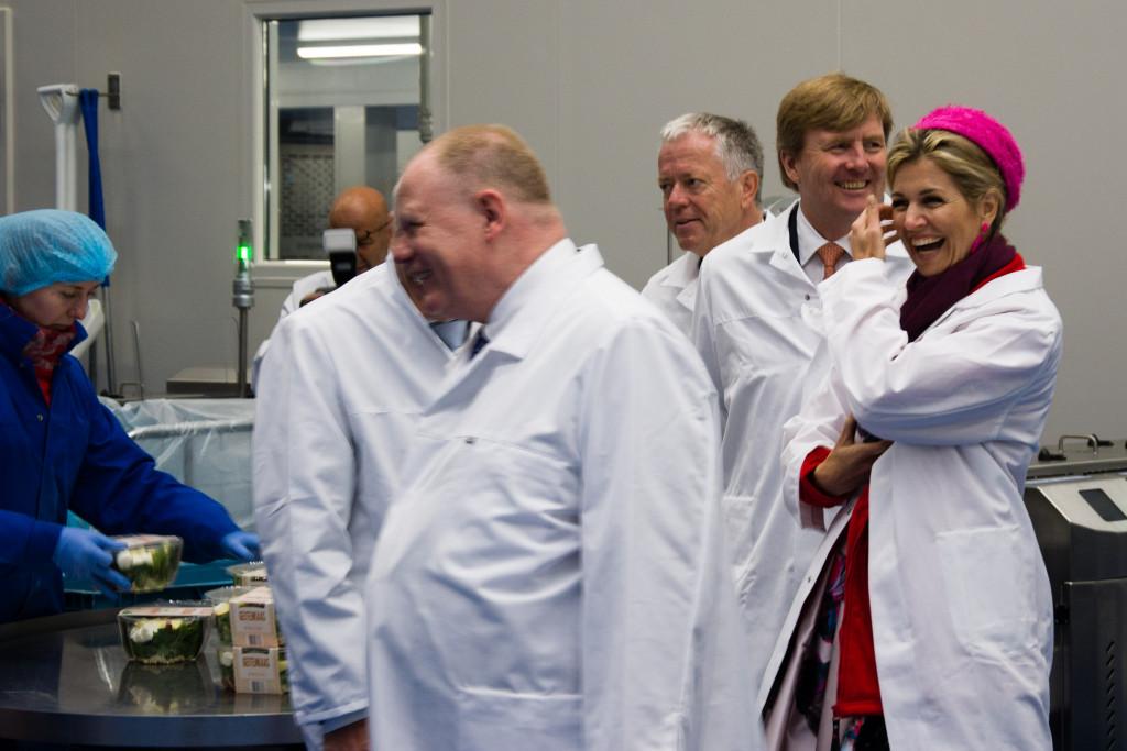 Fresh-Care in Dronten tijdens het bezoek van de Koning en de Koningin in 2017.