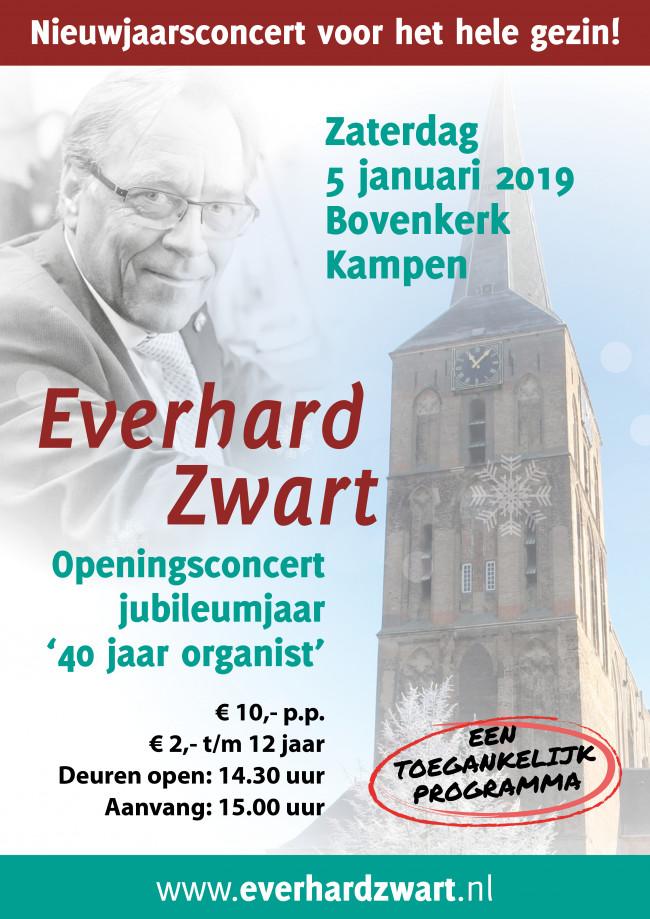 Everhard Zwart start jubileumjaar in Kampen