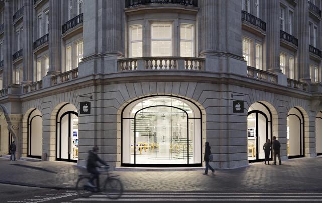 De Apple Store in Amsterdam.