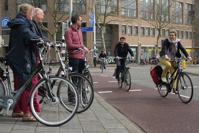 Jury fietsstad 2014 toert door Zwolle